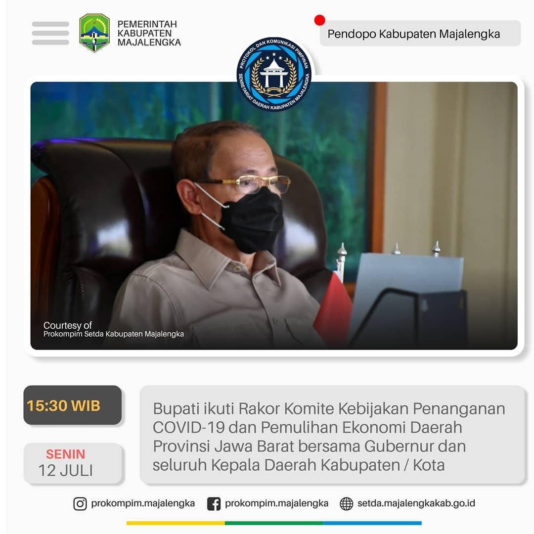 Rakor Komite Kebijakan Penanganan Covid-19 dan Pemulihan Ekonomi Daerah Provinsi Jawa Barat